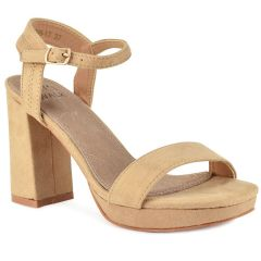Beige high heel sandal Let's Walk JN99-17