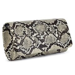 Beige animal print clutch A820