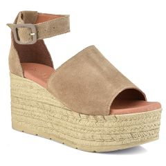 Leather taupe platform Just Prive JP505