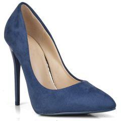 Blue suede pump B10