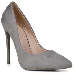 Grey suede pump B10