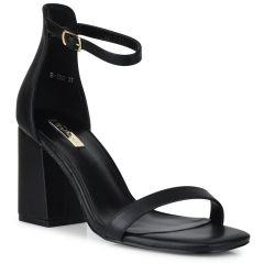 Black block heel sandal B-260