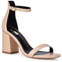 Nude block heel sandal B-260