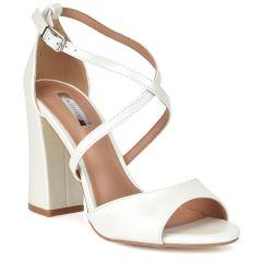 White high heel sandal B-407
