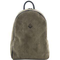 Λαδί κοτλε τσάντα πλάτης Lovely handmade Basic