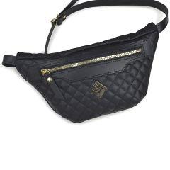 Μαύρη τσάντα μέσης Lovely handmade XBELTBAG