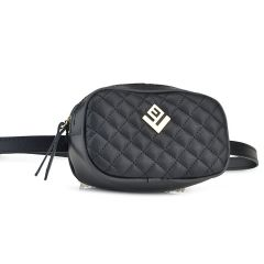 Μαύρη τσάντα μέσης Lovely handmade BELTBAG