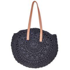 Black staw bag BJ002