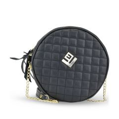 Black capitone cross body bag Lovelyhandmade CIKLIO