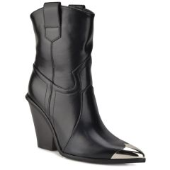 Black cowboy bootie CLS128