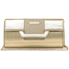 Gold clutch bag MariaMare DAINA