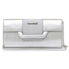 Silver clutch bag MariaMare DAINA