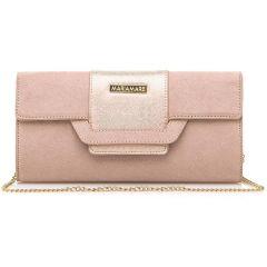 Pink clutch bag MariaMare DAINA