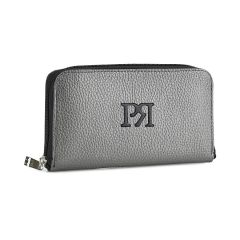 Pewter eco-leather wallet Pierro Accessories 00022