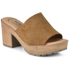 Leather tabac hell sandal Wikers 92000