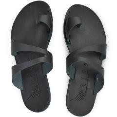 Δερμάτινη μαύρη σαγιονάρα Iris Sandals IR20/1