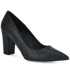 Black pump with shiny pattern QUOD 750