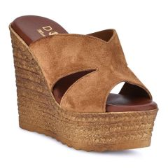 Leather tabac suede wedge Dolce 207007