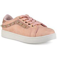 Pink junior sneakers E22-66
