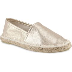 Gold metallic junior espadrilles Doremi EN-1
