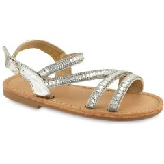 Silver kids sandal with strass Chochoula F3696