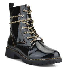 Black biker boot F5819