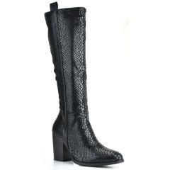 Μαύρη μπότα φιδι F5855