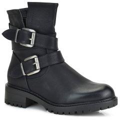 Black biker boot FR208