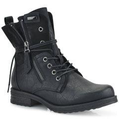 Black biker boot FR5750