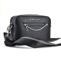 Μαύρη τσάντα χιαστή REPLAY FW3010