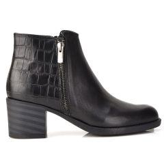 Black leather bootie QUOD 500