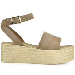 Taupe leather flatform QUOD GT294