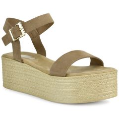 Taupe leather flatform QUOD GT296