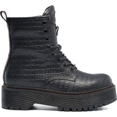 Μαύρο biker boot REPLAY SIBEL