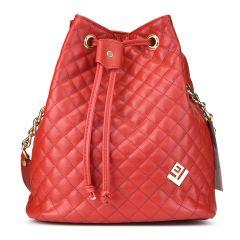 Κόκκινη καπιτονέ τσάντα πουγκί Lovely handmade Hypnotic