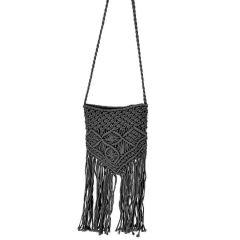 Black knitted cross body bag IBIS