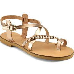 Mocha leather sandal IOANNIS ID28