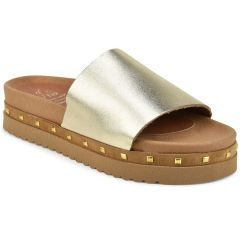 Leather gold anatomic flatform Iris IR805