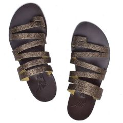 Pewter leather sandal Iris Sandals IR9/14