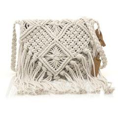 Black knitted cross body bag MTNG IRIA