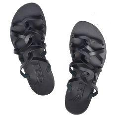 Δερμάτινη μαύρη σαγιονάρα Iris Sandals IR20/21