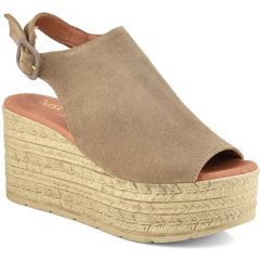 Leather taupe platform Just Prive  JP1000