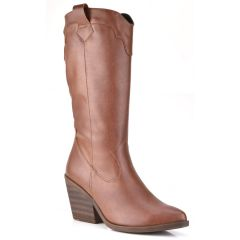 Tabac cowboy boot Just Prive 900