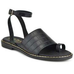 Black leather sandal Just Prive JP10