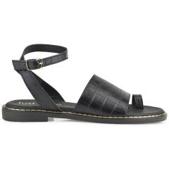 Black leather sandal Just Prive JP10