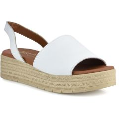 Leather white flatform Just Prive JP170