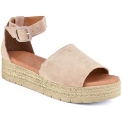 Δερμάτινη nude flatform Just Prive JP213