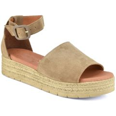 Leather taupe flatform Just Prive JP213