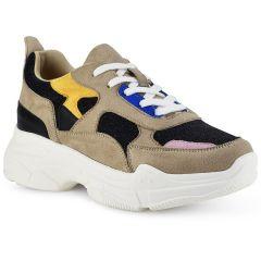 Μπεζ με μαύρο sneaker KP9171