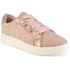 Ροζ σουεντ sneakers LA93